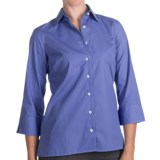 Broadcloth Shirt - Wrinkle Resistant, 3/4 Sleeve (For Women)
