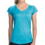 Icebreaker GT Flash T-Shirt - Merino Wool, UPF 40+, V-Neck, Short Sleeve (For Women)