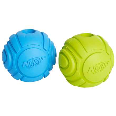 Nerf Dog Rubber Sonic Ball Dog Toy - 2-Pack in Blue/Green - Closeouts