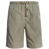 White Sierra Quick-Dry Nylon Shorts - UPF 30 (For Men)