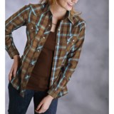 Roper Plaid Shirt - Snap Front, Long Sleeve (For Women)